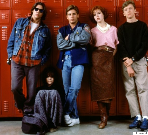 'The Breakfast Club' cast via 'The Huffington Post'