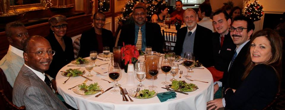Our table at the annual Holiday Luncheon. Photo courtesy of Benoit Van Lesberghe.