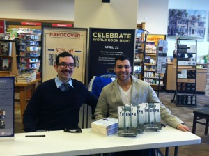 Andrew Chapin & John Tartaglio at a book signing Photo courtesy of Barbara Tartaglio