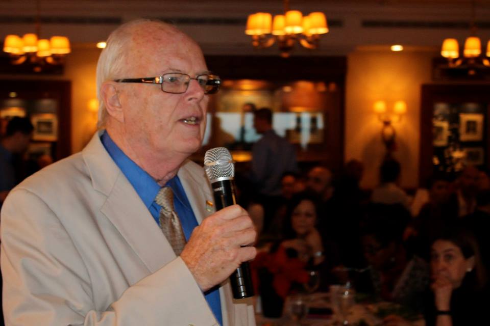 Headmaster Doug Fleming at the annual Holiday Luncheon. Photo courtesy of Benoit Van Lesberghe.