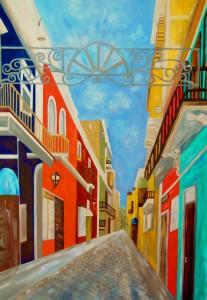 Old San Juan by Eloise Schneider - Impressionist