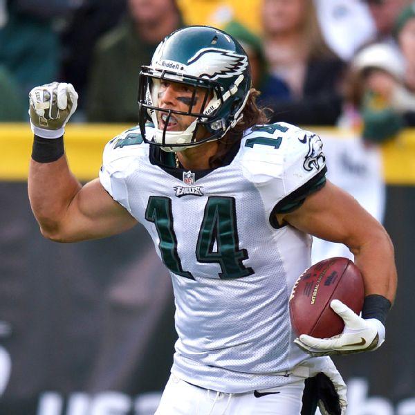 Philadelphia Eagles Wide Receiver Riley Cooper via Drew Hallowell/Philadelphia Enquirer/Getty Images