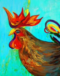 Ridiculously Handsome Rooster by Eloise Schneider - Funky Animals