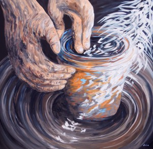 In the Potter's Hands by Eloise Schneider - Impressionist
